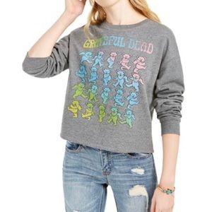 Tops - Grateful Dead dancing bears graphic sweatshirt